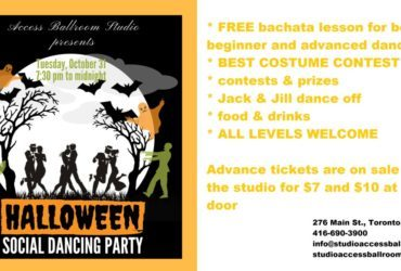 Access Ballroom Dance School Halloween Social Dance Party Toronto Events  waltz tango swing singles dances toronto single activities toronto samba salsa rumba party merengue halloween social dance party toronto halloween party in toronto good times foxtrot dance party couples dance lessons toronto couple activities toronto couple activities Cha Cha ballroom dancing ballroom bachata 2017