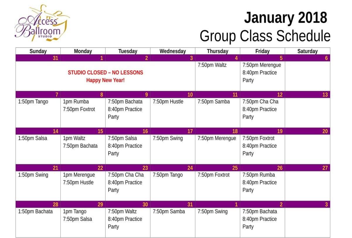 Access Ballroom Studio - Dance Lessons & Classes Schedule