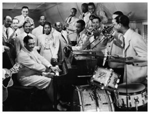 Duke Ellington Big Band picture representing the music played for Foxtrot Lessons Toronto as well as Swing Lessons Toronto