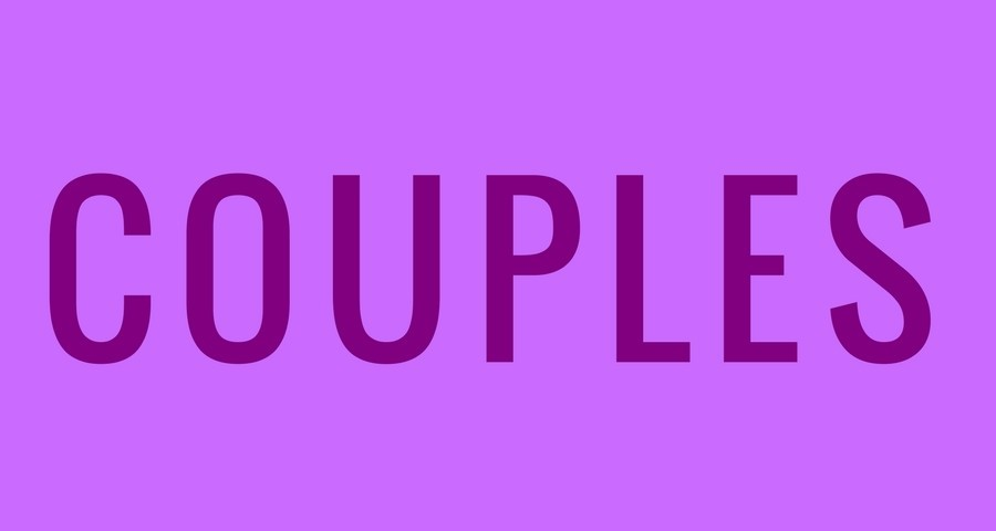 word couples in purple on light purple background