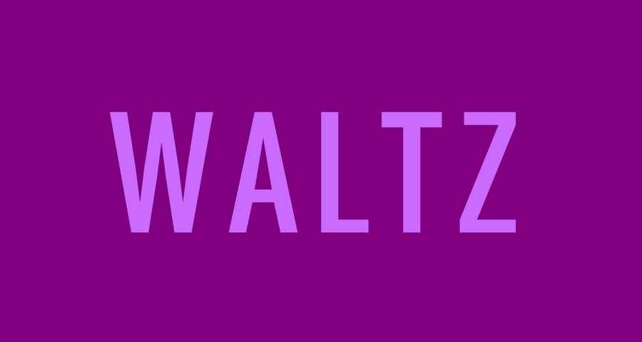 Access Ballroom Studio light purple word waltz on purple background