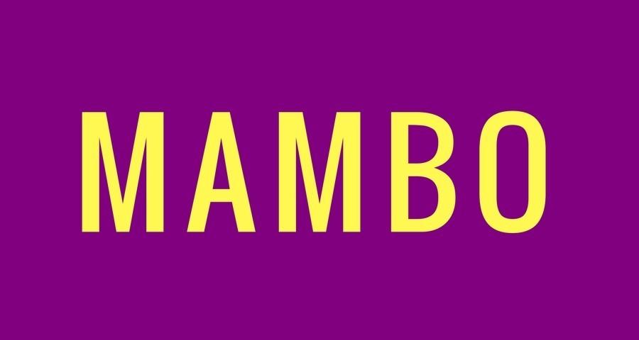 Access Ballroom Studio yellow mambo word on purple background