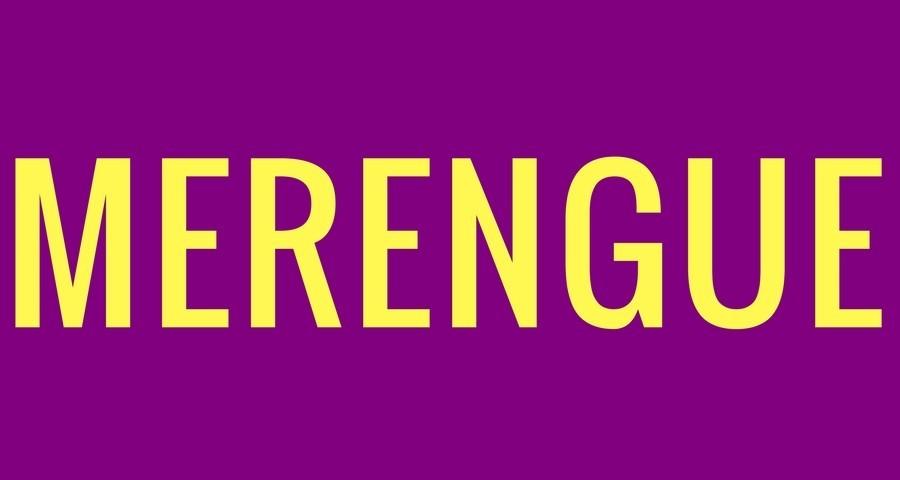 Access Ballroom Studio yellow merengue word on purple background