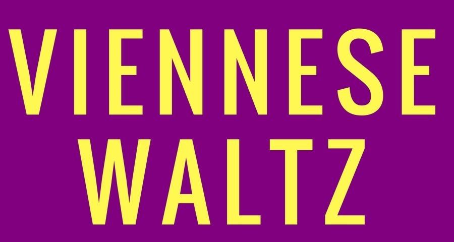 Access Ballroom Studio yellow viennese waltz words on purple background