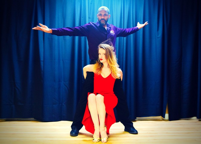 professional latin ballroom dancers dance packages access ballroom studio red dress couple dancing performers entertainers
