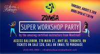 blue pink and yellow backgroung flyer two zumba dancers jumping THURSDAY, AUGUST 9, 2018 DOORS OPEN AT 7:30 PM zumba workshop (416) 690-3900 info@studioaccessballroom.com ACCESS BALLROOM, 276 MAIN ST., UNIT B5, TORONTO, ON TICKETS ON SALE $20, CALL OR EMAIL TO PURCHASE ZUMBA SUPER WORKSHOP PARTY ABS access ballroom studio toronto beaches by the amazing certified instructors from Montreal