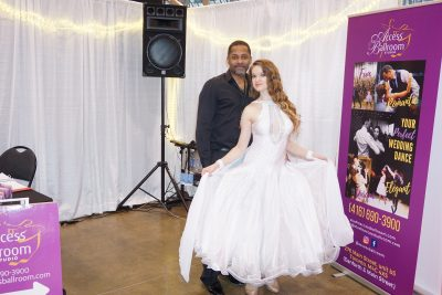 Gil and Valeria at Canada's Bridal Show Access Ballroom