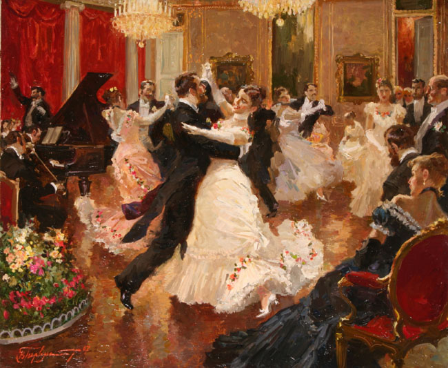 painting by Vladimir Pervuninsky viennese waltz lessons in toronto