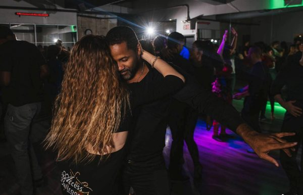 Gil and Valeria dancing Salsa and Bachata at Bachata X event spring guest contest, mental health benefits of ballroom dance