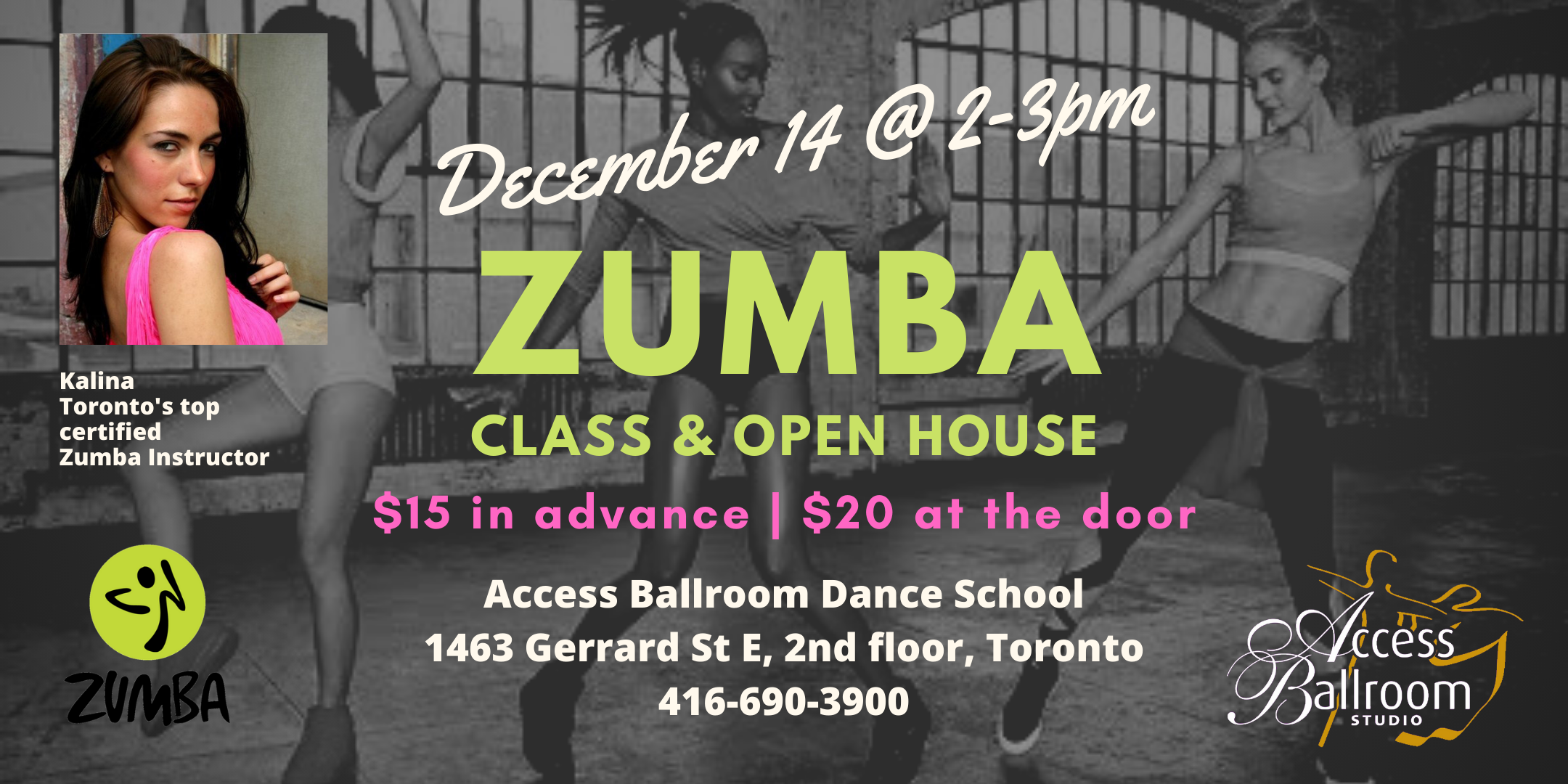 Zumba Class and Open House Toronto Access Ballroom
