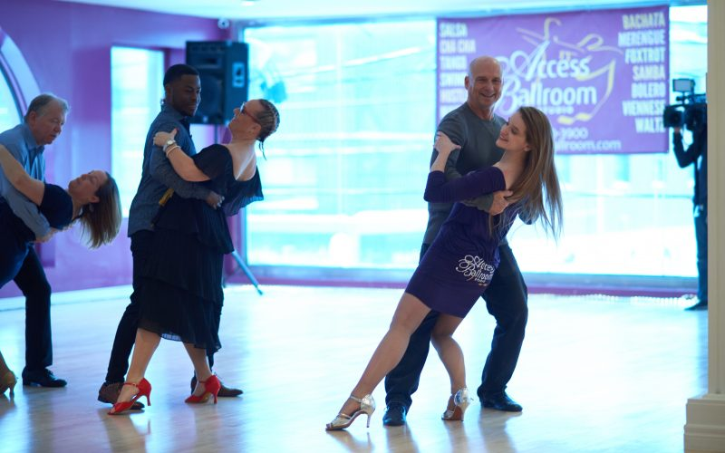 Teaching Brandon Gonez from CP24 to Dance